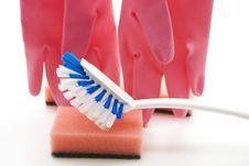 Free Brush With Sponge Stock Image - 15997821