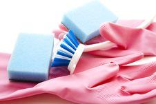 Free Brush With Sponge Stock Image - 15997841