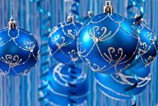 Free Blue Christmas Background Stock Photos - 15997883