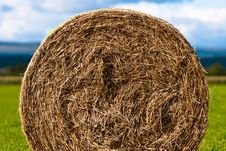 Free Bales Of Hay On Meadow Against The Sky V4 Stock Image - 15997891