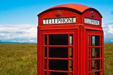 Free Red Phone Booth In Landscape V4 Stock Photo - 15997960