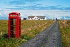 Free Red Phone Booth In Landscape V6 Stock Image - 15997981