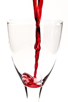 Free Red Wine Is Flowing Into The Wine Glass V1 Stock Images - 15997984