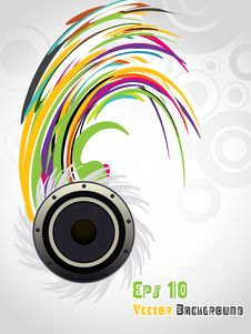 Free Vector Music Illustration ,eps 10 Stock Photos - 15998103