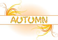 Free Abstract Autumn Banner Royalty Free Stock Images - 15998299