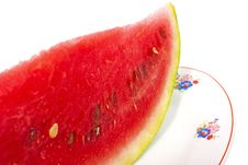 Free Slice Of Watermelon On Plate Royalty Free Stock Photo - 15998895