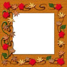 Free Autumn Leaf Frame Stock Image - 15999371