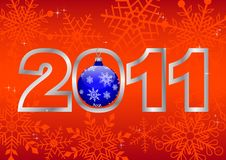 New Year 2011! Vector 10eps. Stock Photo