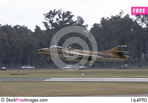 Free Hawker Hunter Landing Stock Photo - 164990