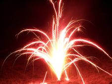 Free Bright Red Fireworks Stock Photography - 160182