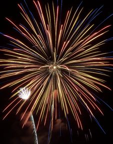 Free Fireworks Show VII Royalty Free Stock Image - 161726