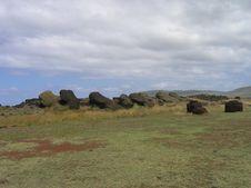 Free Easter Island - Fallen Moais Royalty Free Stock Photos - 162778