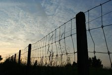 Free Fence At Dusk Stock Photos - 168463