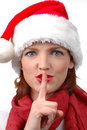 Free Woman With Santa S Hat Stock Image - 1601681