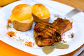 Free Baked Pork Ribs With Potato Royalty Free Stock Photos - 1608048