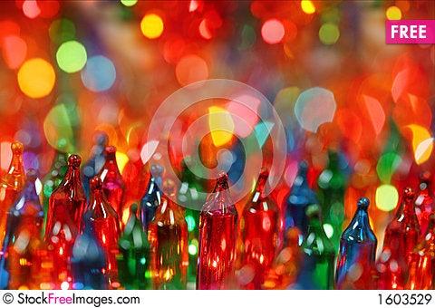 Festive christmas lights Stock Photo