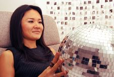 Free Japanese Woman Holds Glitterball Stock Photography - 1600802
