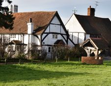 Free Timber Framed Village Cottages Stock Image - 1601871