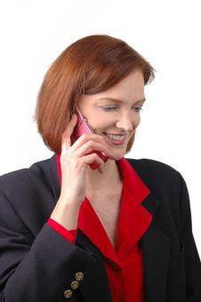 Free Businesswoman On The Cell Phone Royalty Free Stock Image - 1601876
