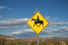 Free Horse Crossing Sign Stock Photo - 1603020