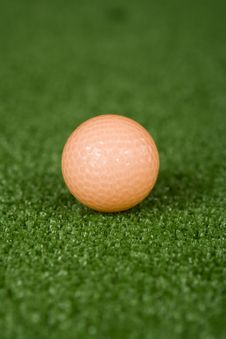 Free Picture Of Orange Golf Ball On Practice Tee Royalty Free Stock Photos - 1603328