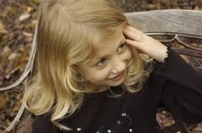 Free Antique Bench Girl Stock Photos - 1603753