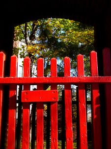 Free Red Picket Fence Royalty Free Stock Image - 1604366