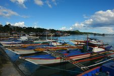 Free Asian Village Port With Fishermen�s Boats. Stock Photography - 1604502