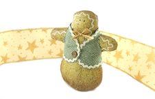 Free Gingerbread Man And Ribbon Royalty Free Stock Photo - 1606425