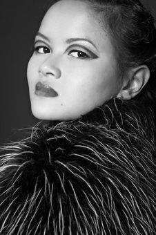 Free Portrait Of Asian Woman. B&W Portrait Royalty Free Stock Image - 1607046