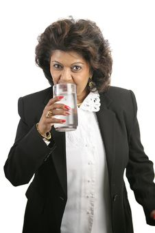 Free Indian Woman - Drinking Water Stock Photography - 1607672