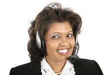 Free Indian Woman - Headset Royalty Free Stock Image - 1607696