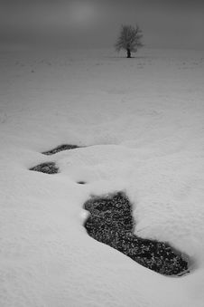 Free Hole In A Snow Stock Images - 1609724