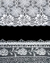 Free Decorative Lace With Pattern On Black Background Royalty Free Stock Photography - 16007177