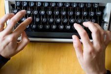 Free Typewriting Royalty Free Stock Photo - 16000415
