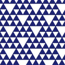 Free Blue Triangle Mosaic Stock Photography - 16000802