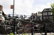 Free Bicycle In Amsterdam Royalty Free Stock Photo - 16001635