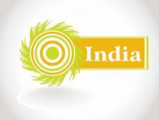 Abstarct India Flag,  Illustration Royalty Free Stock Images