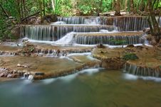 Free Huay Mae Khamin Waterfall Sixth Level Royalty Free Stock Photography - 16003817