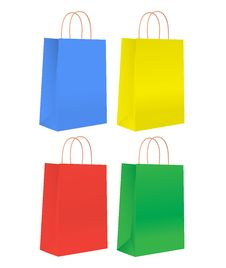 Free Colorful Shopping Bags. Stock Photos - 16004593
