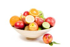 Free Full Bamboo Plate Of Fresh Fruits Stock Photos - 16005193