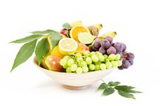 Free Full Bamboo Plate Of Fresh Fruits Stock Image - 16005201