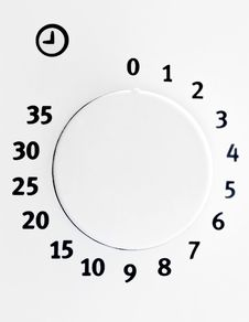 Time Dial Of Microwave Stock Photography