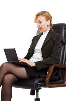 Free Business Woman With Laptop Royalty Free Stock Photography - 16006027