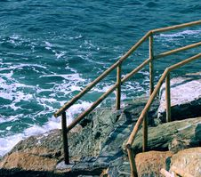 Free Stairway To The Sea Royalty Free Stock Photos - 16006038