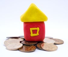 Free The House On Coins Royalty Free Stock Photo - 16006345