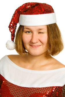 Free Christmas Wink Stock Images - 16006414