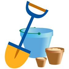 Free Shovel And Bucket Stock Photography - 16006732