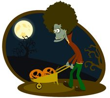 Free The Zombie With The Cart Stock Photo - 16006810