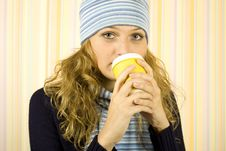 Cofee Woman Stock Images